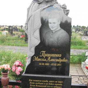 Гранитный памятник с матерью - Камень памяти - Примеры других исполнителей