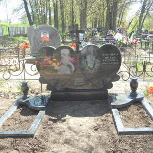 Сердца из черного гранита - Камень памяти - Наша работа