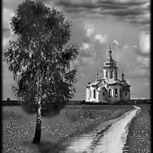 Церковные пейзажи на надгробиях - Камень памяти - Примеры других исполнителей