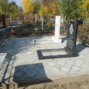 Укладка тротуарной плитки на мемориальном комплексе - Камень памяти - Примеры других исполнителей
