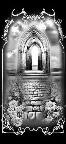 Фантазийный пейзаж на надгробии - Камень памяти - Примеры других исполнителей