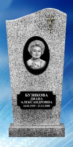 Мраморная серая стела - Камень памяти - Примеры других исполнителей