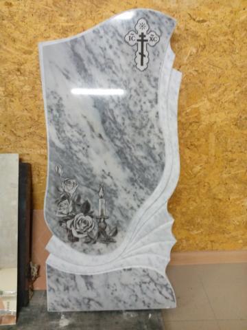 Мраморная плита с четким рисунком - Камень памяти - Примеры других исполнителей