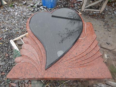 Сердце на граните - Камень памяти - Наша работа